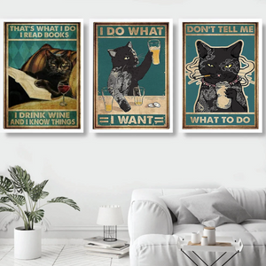 Customisable Canvas Posters-Furbaby Friends Gifts