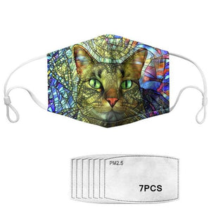 Arty Cats Collection - Adjustable Masks with 7 Free Carbon Filters-Furbaby Friends Gifts
