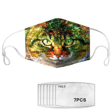 Load image into Gallery viewer, Arty Cats Collection - Adjustable Masks with 7 Free Carbon Filters-Furbaby Friends Gifts