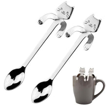 Load image into Gallery viewer, Cat-Buddy Teaspoons (2pcs)-Furbaby Friends Gifts