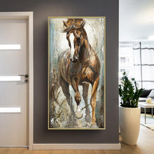 Load image into Gallery viewer, Chestnut Stallion Canvas Oil Print-Furbaby Friends Gifts