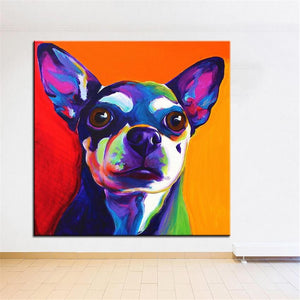 Chihuahua Canvas Oil Print-Furbaby Friends Gifts
