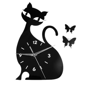 Cute Cat Clock-Furbaby Friends Gifts
