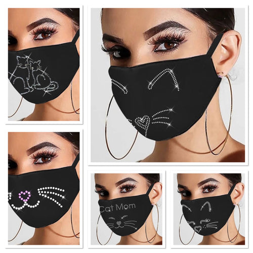 Glamourpus! (5 Pack) Breathable, Reusable Evening Face Coverings-Furbaby Friends Gifts