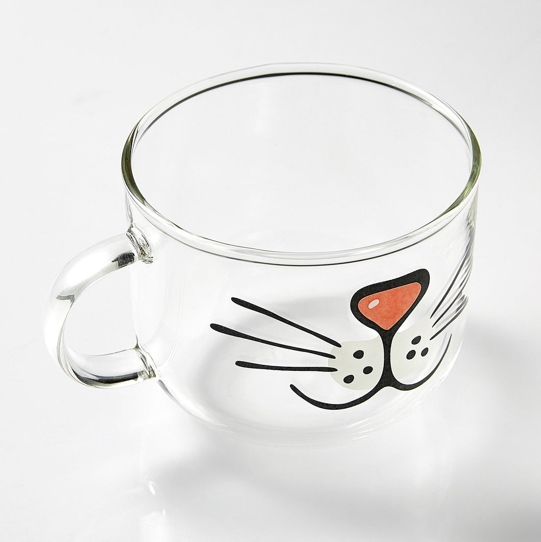 Glass Kitty Face Mug!-Furbaby Friends Gifts
