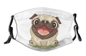 Happy Pug! With 2 Carbon Pocket Filters-Furbaby Friends Gifts