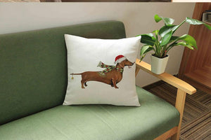 Have a Doxie Christmas! Cushion Covers-Furbaby Friends Gifts