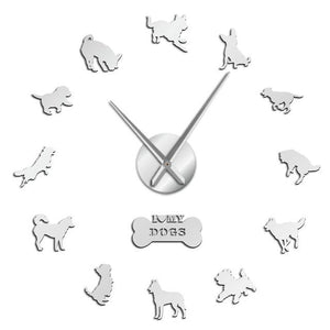 I Love My Dogs Wall Clock-Furbaby Friends Gifts