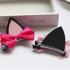 Kitty Ear Hair Barrettes-Furbaby Friends Gifts