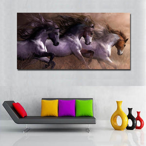 'Paint Herd' Canvas Oil Print-Furbaby Friends Gifts