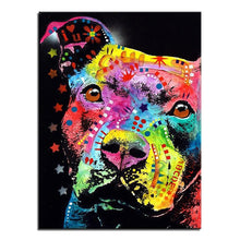 Load image into Gallery viewer, Pitbull Canvas Oil Print-Furbaby Friends Gifts
