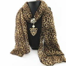 Load image into Gallery viewer, Cheetah Pendant Necklace Scarf-Furbaby Friends Gifts