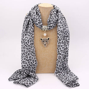 Cheetah Pendant Necklace Scarf-Furbaby Friends Gifts