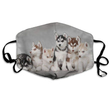 Load image into Gallery viewer, Husky Puppies, Adjustable Mask with 2 Free Carbon Pocket Filters-Furbaby Friends Gifts