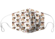 Load image into Gallery viewer, Pug Lovers Face Masks, with 7 Free Carbon Filters-Furbaby Friends Gifts