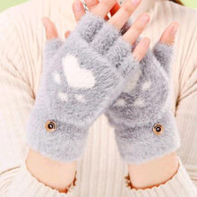 Load image into Gallery viewer, Fluffy Paw Print Mittens-Furbaby Friends Gifts