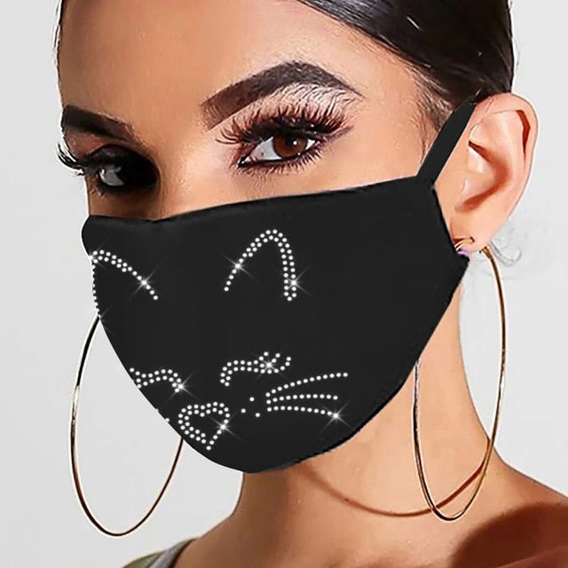 Glamourpus! Breathable, Reusable Evening Face Coverings-Furbaby Friends Gifts