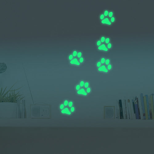 Glow-in-the-Dark Paw Stickers-Furbaby Friends Gifts