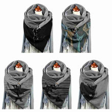 Load image into Gallery viewer, Black Cat Wrap Scarves-Furbaby Friends Gifts