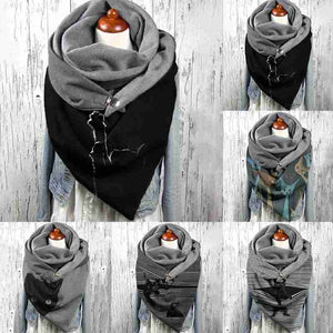 Black Cat Wrap Scarves-Furbaby Friends Gifts