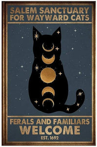 Hilarious Cat-Themed Vintage Metal Wall Plaques-Furbaby Friends Gifts