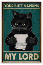 Load image into Gallery viewer, Hilarious Cat-Themed Vintage Metal Wall Plaques-Furbaby Friends Gifts