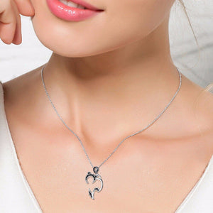 Sterling Silver & Crystal Black Cat Pendant and Chain-Furbaby Friends Gifts