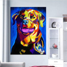 Load image into Gallery viewer, Rottweiler Canvas Oil Print-Furbaby Friends Gifts
