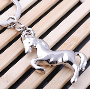 Silver Plated 'Rearing Horse' Keychain-Furbaby Friends Gifts