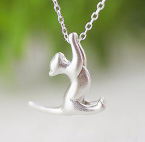Silver Playing Cat Pendant-Furbaby Friends Gifts
