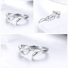 Load image into Gallery viewer, Sterling Silver Adjustable Rings-Furbaby Friends Gifts