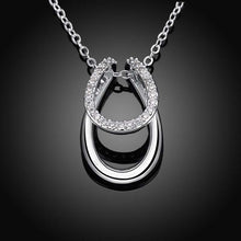 Load image into Gallery viewer, Sterling Silver Horse-Shoe Pendant Necklace-Furbaby Friends Gifts