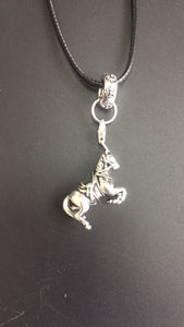 Sterling Silver Pendant & Leather Rope Chain-Furbaby Friends Gifts