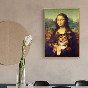 'Why She Smiles' Canvas Oil Print-Furbaby Friends Gifts