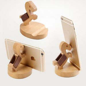 Wooden Puppy Phone Holder-Furbaby Friends Gifts