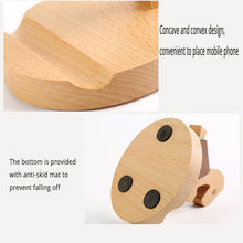 Load image into Gallery viewer, Wooden Puppy Phone Holder-Furbaby Friends Gifts