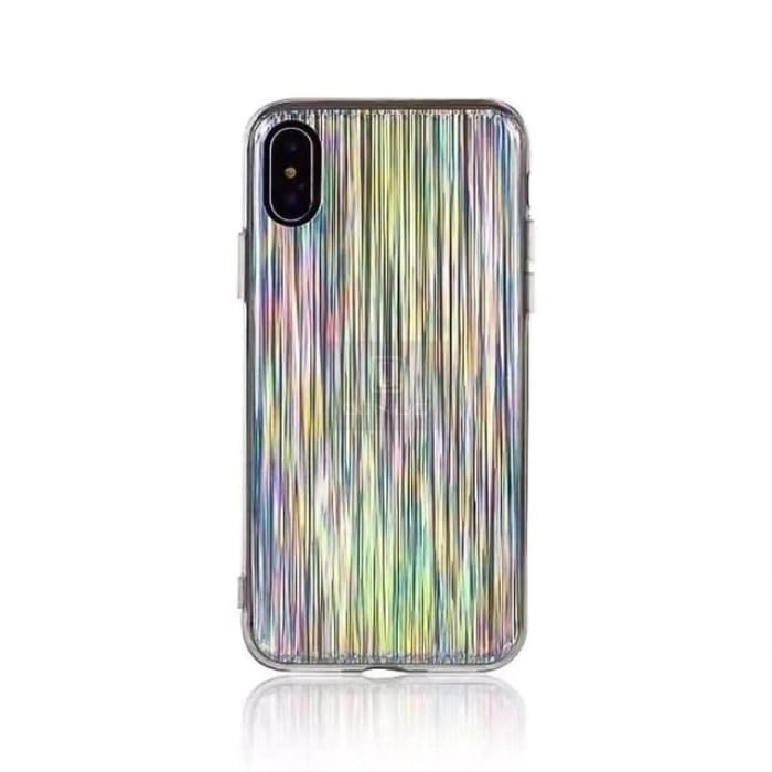 Glossy Holographic Iridescent Laser Phone Case For iPhone 5 5S Se 7 8 6 6S Plus X - Phone Case Evolution