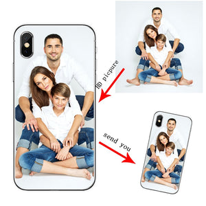 Soft Silicone TPU  Phone Case Customized Photo