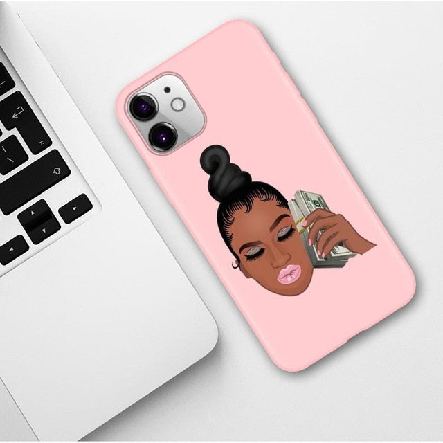 Soft Phone case for iPhone 11 Pro Max X XR XS 8 7 6s Plus Matte Candy Pink Silicone Cases - Phone Case Evolution