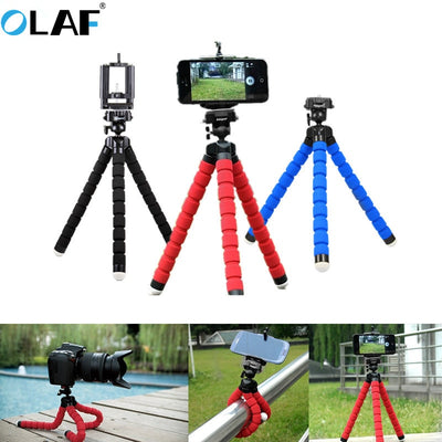 Phone Holder Flexible Octopus Tripod Bracket Selfie For Mobile Phone Camera