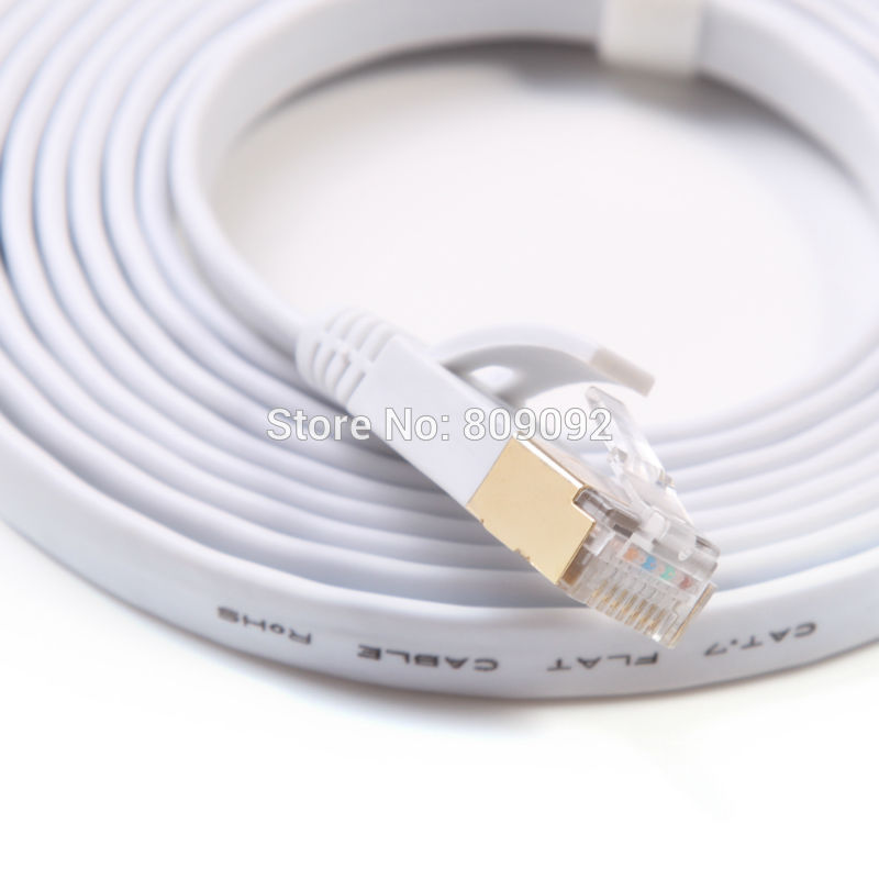 Ethernet Cable Cat7 RJ45 M/M Thin High Speed Flat Shielded Twisted Pair Internet Lan - Phone Case Evolution