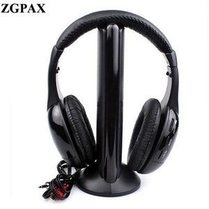 Wireless Headphone Casque Audio Sans Fil Ecouteur Hi-Fi Radio FM TV
