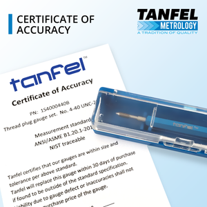 Certificate of Conformance Included | Tanfel Metrology