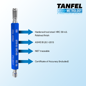 Certified thread plug gauge | Tanfel Metrology