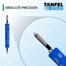Load image into Gallery viewer, Precision #4-40 UNC-2B Taperlock GO NOGO Thread Plug Gage | Tanfel Metrology