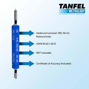 High Quality #4-40 Taperlock GO-NOGO Thread Plug Gage | Tanfel Metrology