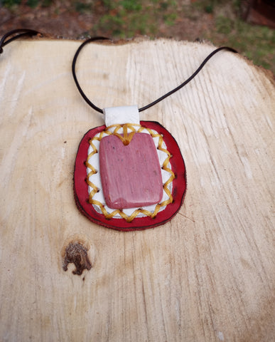 Rose Petal Leather Pendant