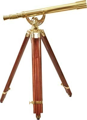 Barska 18x 50mm Anchormaster Classic Brass Telescope AA10618 - USA Safe And Vault