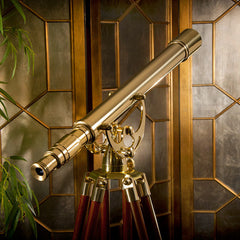 Barska 18x 50mm Anchormaster Classic Brass Telescope AA10618