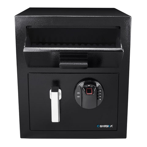 Barska Biometric Keypad Depository Safe AX13108 - USA Safe And Vault